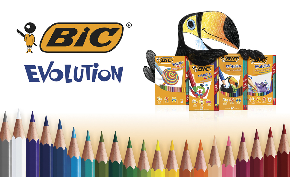 cajilla de lápices BIC Evolution